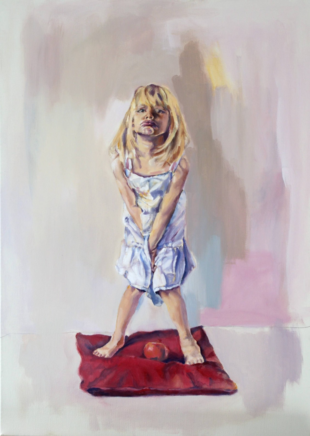 Leda on a Pillow - painting, acrylic on canvas by artist Neva Bergemann