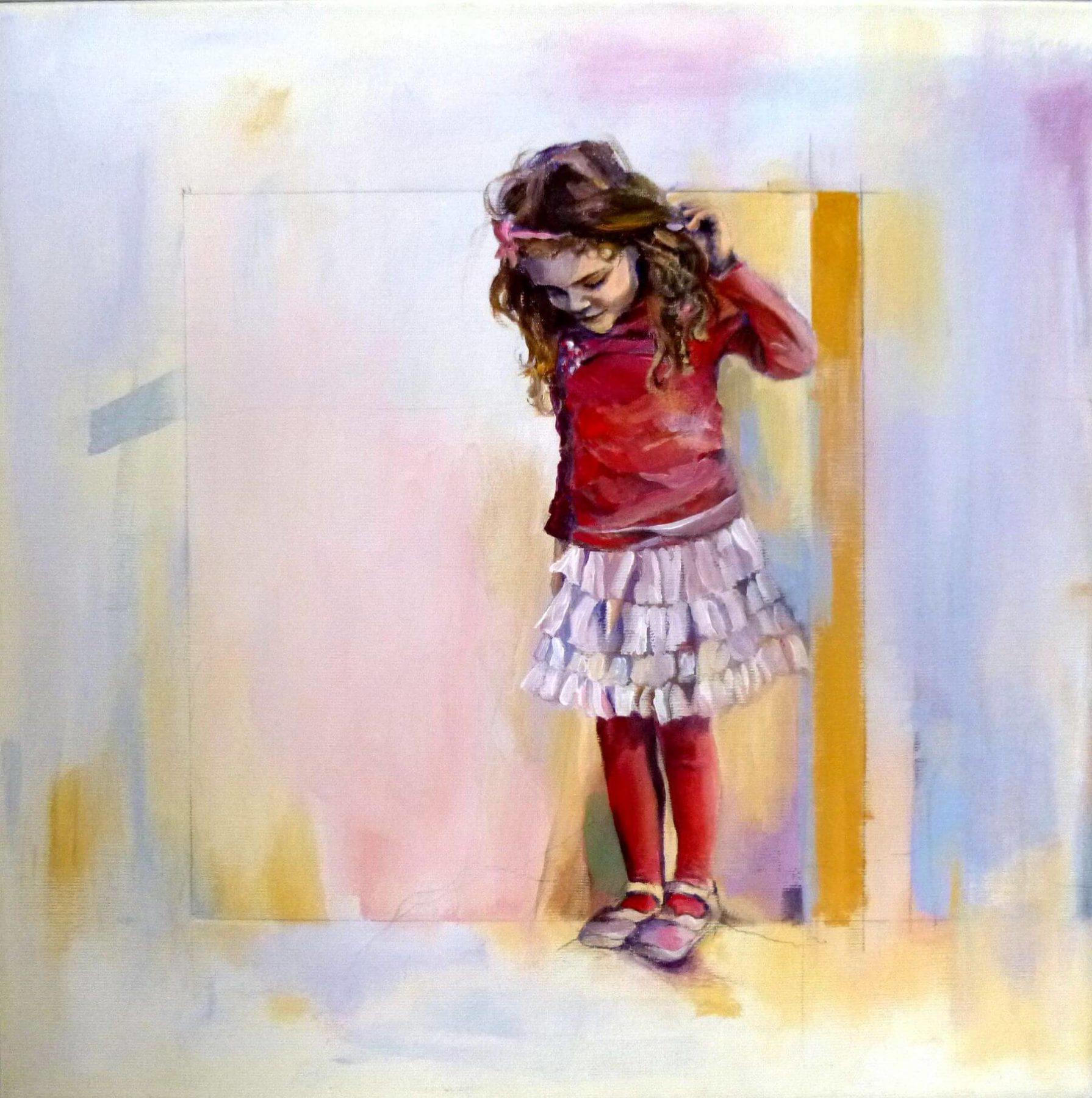 Alexia, Painting. Acrylic on Canvas by Neva Bergemann, artist