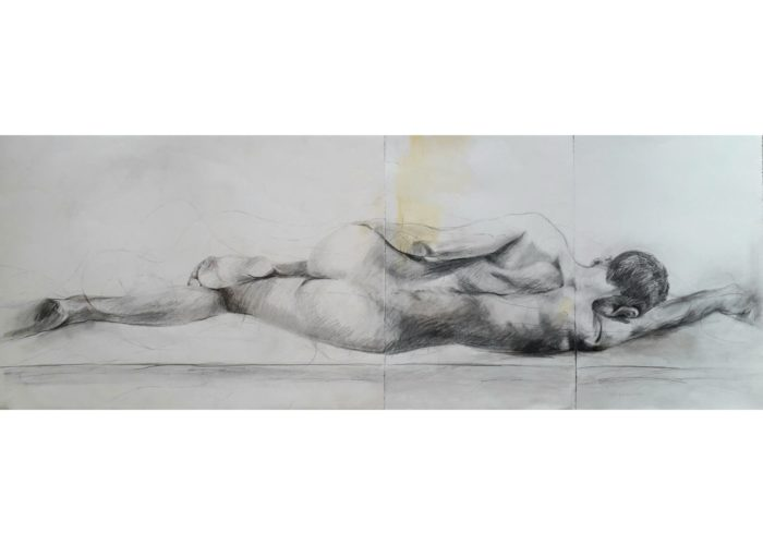 Boy - drawing, graphite on paper, by artist Neva Bergemann