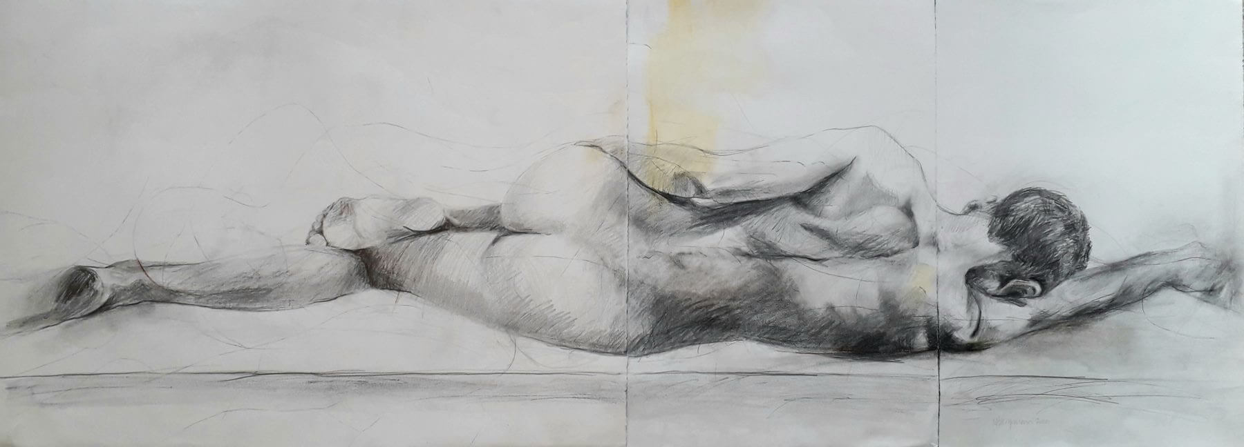 Boy - drawing, graphite on paper by artist Neva Bergemann