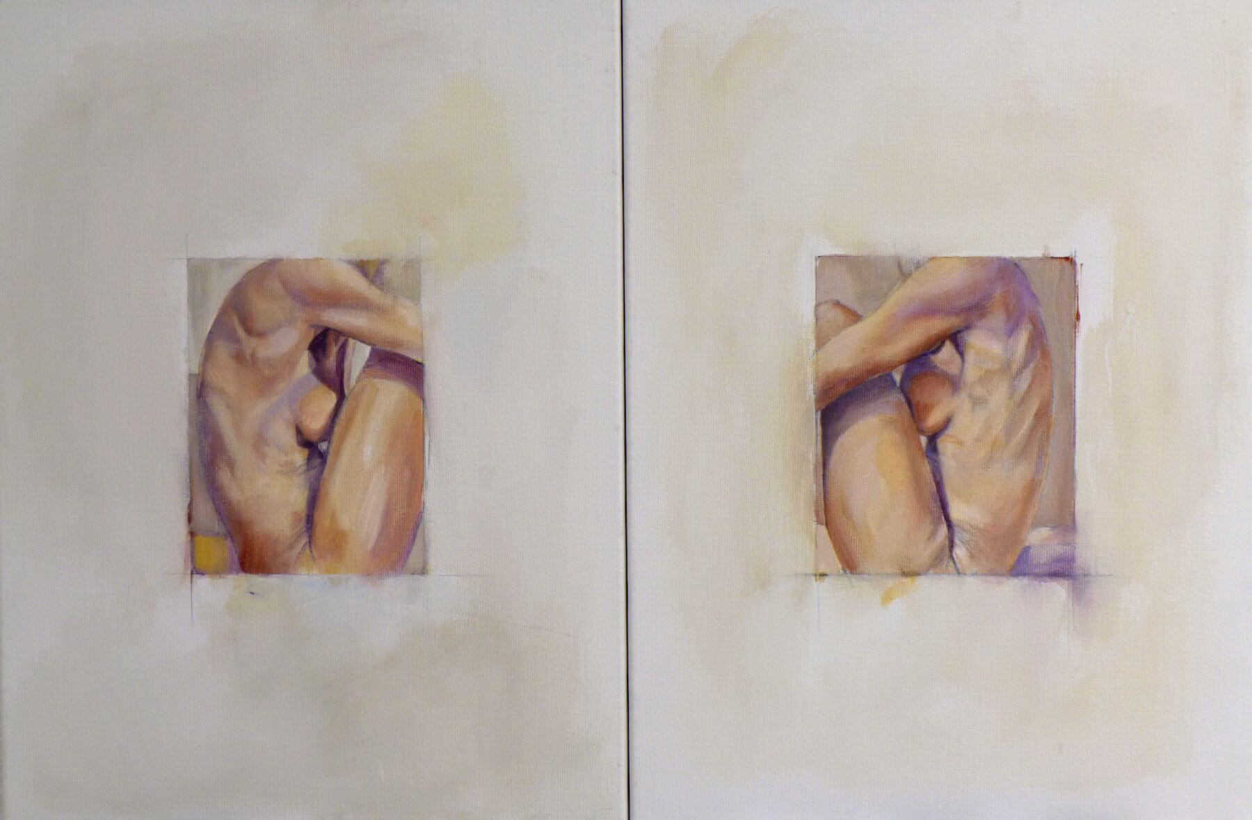 Figurine - painting, acrylic on canvas by artist Neva Bergemann