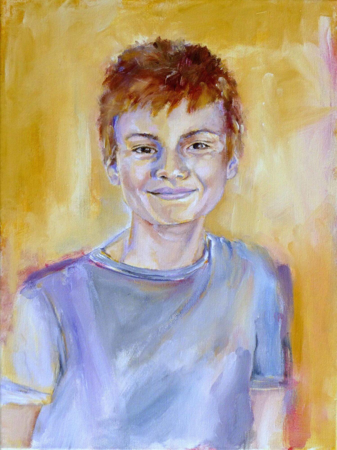 Flynn - painting, acrylic on canvas by artist Neva Bergemann