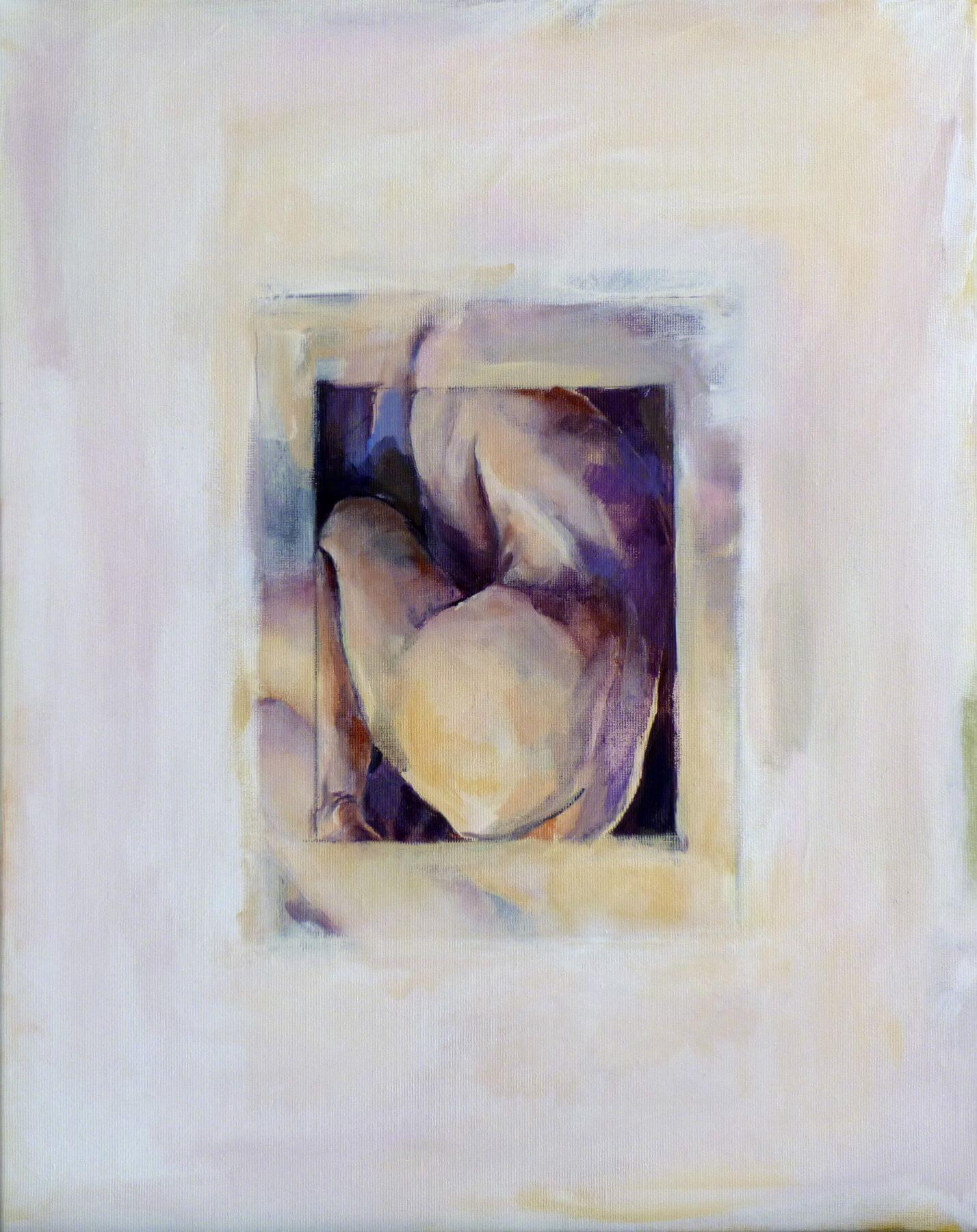 Heart 3 - painting, acrylic on canvas by artist Neva Bergemann