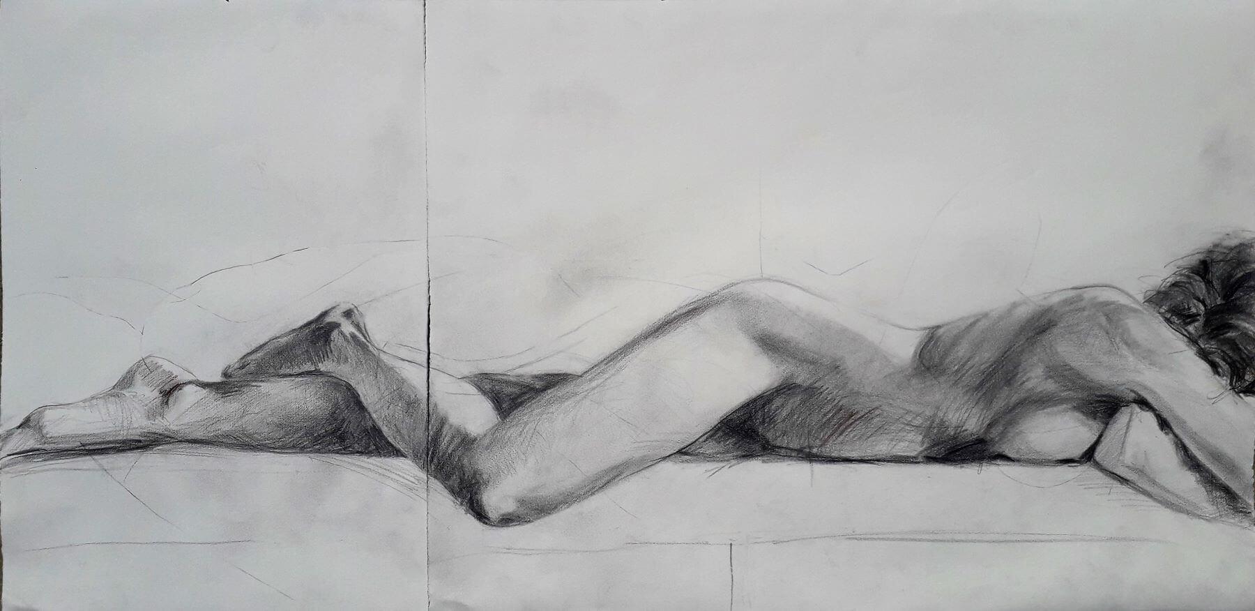 How I See It - drawing, graphite n paper by artist Neva Bergemann