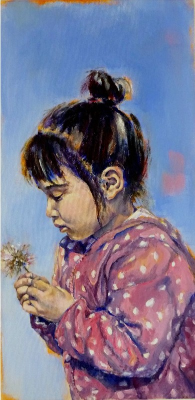 Mona, Painting. Acrylic on Canvas by Neva Bergemann, artist
