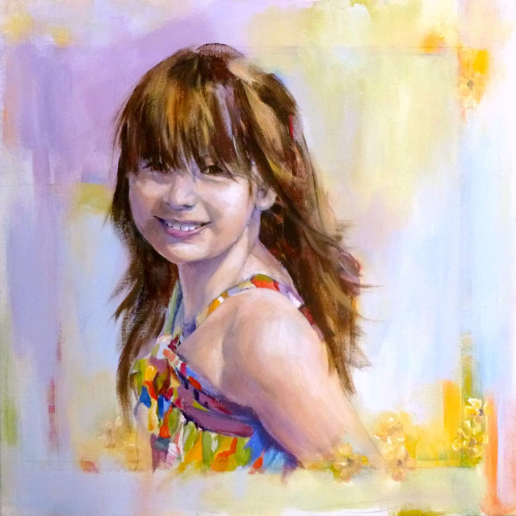 Monica, Painting. Acrylic on Canvas by Neva Bergemann, artist