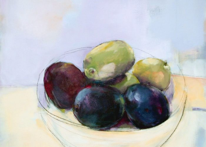 Olives - painting, acrylic on canvas by artist Neva Bergemann