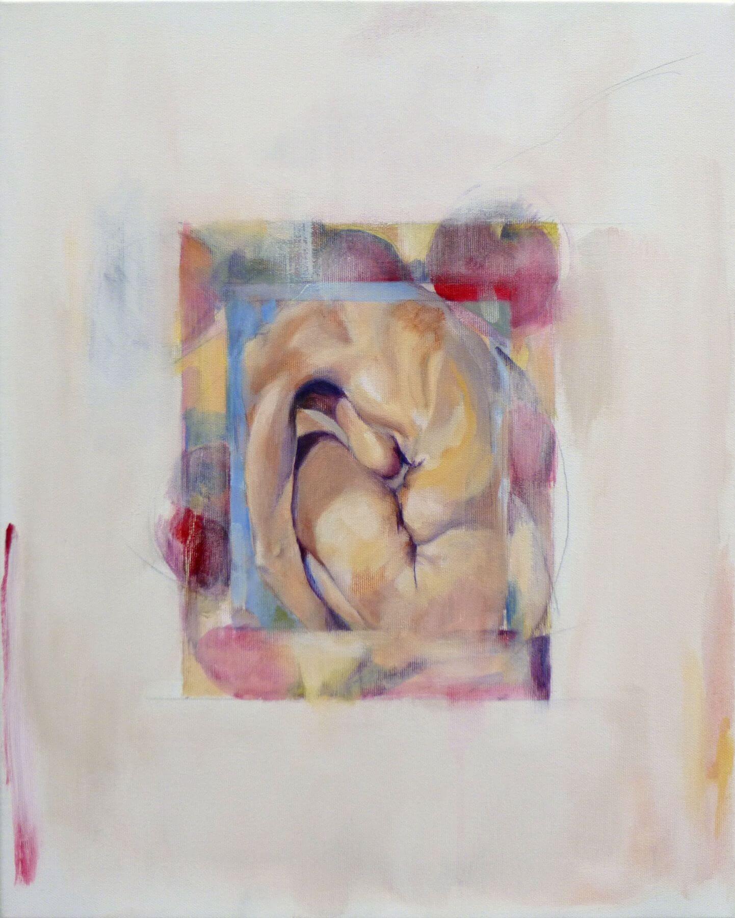 Pomegranate - painting, acrylic on canvas by artist Neva Bergemann