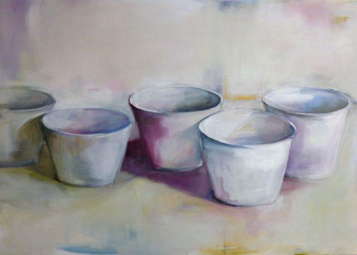 Pots - painting, acrylic on canvas by artist Neva Bergemann