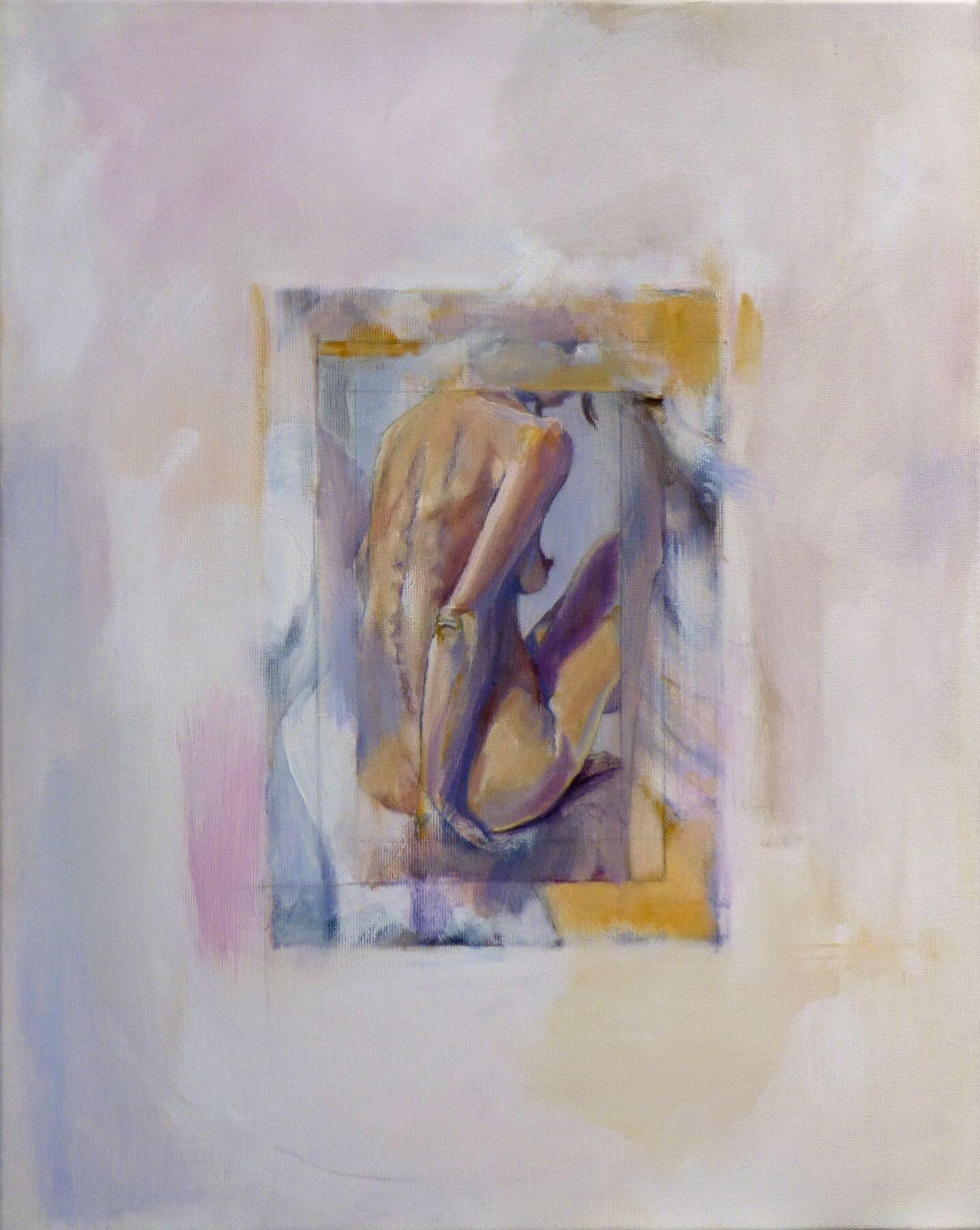 Swan - painting, acrylic on canvas by artist Neva Bergemann