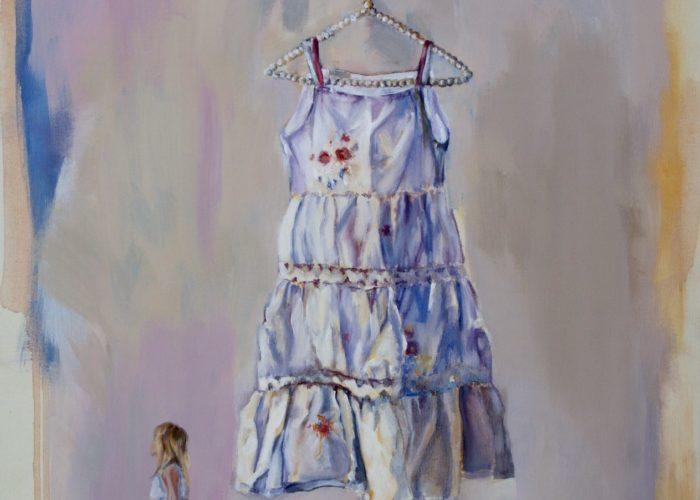 The Dress - painting, acrylic on canvas by artist Neva Bergemann